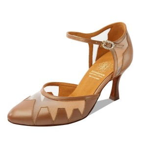Supadance - Ladies Dance Shoes 1040 - Caramel Leather/Mesh
