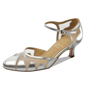 Supadance - Ladies Dance Shoes 1040 - Leather/Mesh Silver