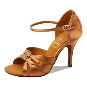 Supadance - Damen Tanzschuhe 1057 - Dark Tan Satin