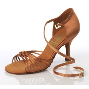 Supadance - Damen Tanzschuhe 1060 - Dark Tan Satin