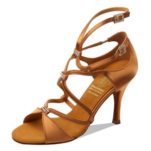 Supadance - Dames Dansschoenen 1062 - Dark Tan Satijn