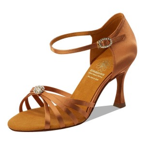 Supadance - Damen Tanzschuhe 1064 - Dark Tan Satin