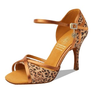 Supadance - Ladies Dance Shoes 1073 - Satin Leopard