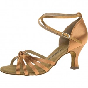 Diamant - Ladies Dance Shoes 109-087-087 - Beige Satin