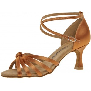 Diamant - Damen Tanzschuhe 109-087-379 - Dark Tan Satin