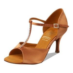 Supadance - Damen Tanzschuhe 1127 - Dark Tan Satin