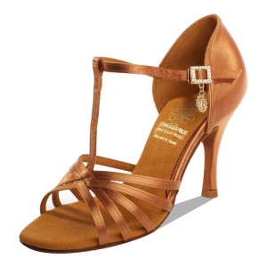 Supadance - Damen Tanzschuhe 1141 - Dark Tan Satin