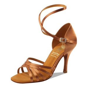 Supadance - Damen Tanzschuhe 1143 - Dark Tan Satin