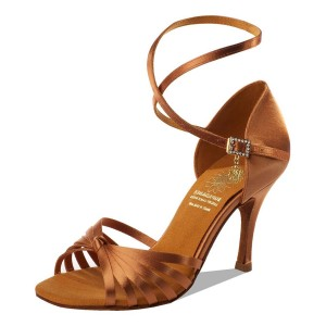 Supadance - Damen Tanzschuhe 1166 - Dark Tan Satin