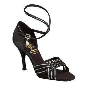 Supadance - Ladies Dance Shoes 1178 - Satin Black / Silver