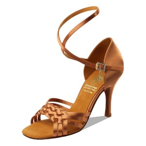 Supadance - Damen Tanzschuhe 1178 - Dark Tan Satin