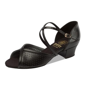 Supadance - Ladies Dance Shoes 1226 - Black Leather [Wide]