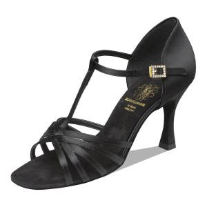 Supadance - Ladies Dance Shoes 1401 - Black Satin