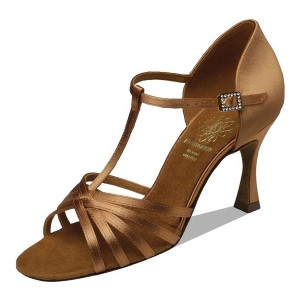 Supadance - Damen Tanzschuhe 1401 - Dark Tan Satin