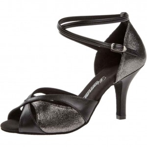 Diamant - Ladies Dance Shoes 141-058-420 - Black/Platin