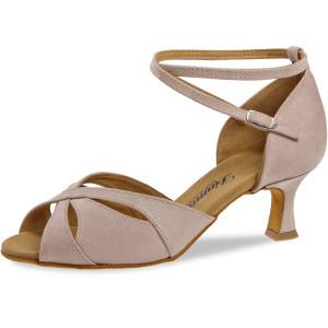 Diamant Ladies Dance Shoes 141-077-525 - Velvet Nude Silver Reflex