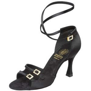 "Supadance - Mujeres Zapatos de Baile 1618 - Satén Negro - Regular - 2.5"" Flare [UK 7]"