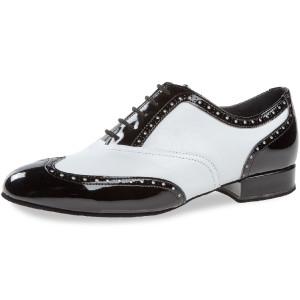 Diamant - Hombres Zapatos de Baile 177-075-284 - Negro/Blanco