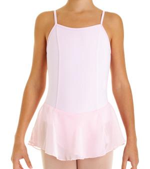 Intermezzo - Girls Ballet Body/Leotard with skirt and Spaghetti-straps 3056 Bodyretomer Strap