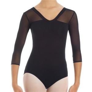 Intermezzo - Mädchen Ballett Body/Trikot mit Mesh und 3/4 Ärmeln 31086 Bodyaltrans