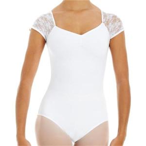 Intermezzo - Mädchen Ballett Body/Trikot mit Ärmeln kurz 31125 Bodyblondcor