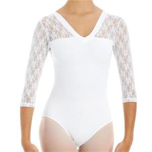 Intermezzo - Damen Ballett Body/Trikot mit 3/4 Ärmeln 31260 Bodyalblon