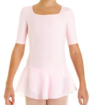 Intermezzo - Mädchen Ballett Body/Trikot mit Rock und Ärmeln kurz 3360 Bodyreto Mc