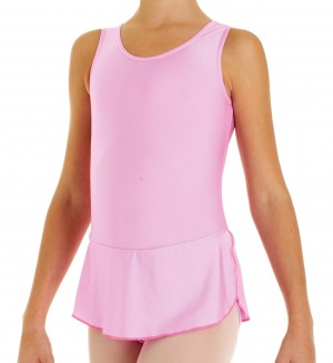 Intermezzo - Girls Ballet Body/Leotard with skirt and sleeves wide 3480 Bodyar Cam