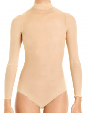 Intermezzo - Ladies Ballet Body/Leotard with stand-up collar and sleeves long 3745 Bodytrans Ml