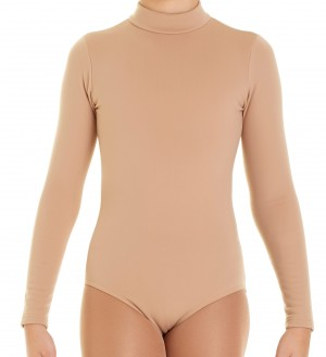 Intermezzo - Girls Skating Body/Leotard with stand-up collar and sleeves long 3835 Bodyperch Ml