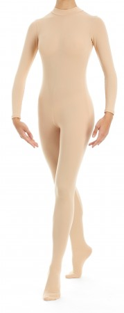 Intermezzo - Girls Unitard with foot and sleeves long 4360 Skinlovercar