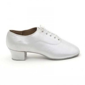 Dancelife - Heren Latin Dansschoenen 90312 - Satijn Wit