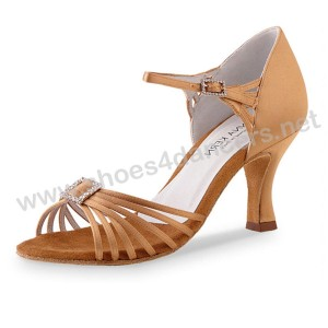 Anna Kern - Ladies Dance Shoes 560-60 - Flesh Satin
