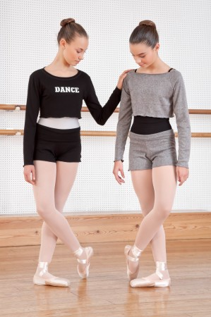 Intermezzo - Mädchen Ballett Warm-Up Cropped Top/Shirt Langarm 6428 Topvis Dance