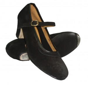 Intermezzo - Ladies/Girls Flamenco Shoes 7233 Basico Ante Hebilla