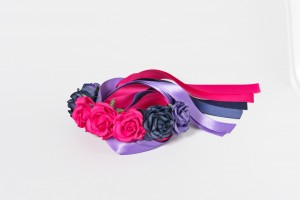 Intermezzo - Damen Haarband 7613 Flower Headband With Ribbon