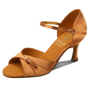 Supadance - Damen Tanzschuhe 7843 - Dark Tan Satin