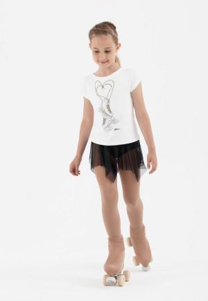 Intermezzo - Mädchen Eiskunstlauf Rock mit Gummizug breit 7922 Falmon