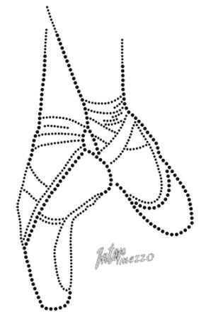 Intermezzo - Kinder Bügelbild Spitzenschuhe 9012 Pointe Brill Diamond
