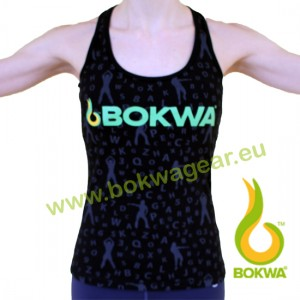 Bokwa® - Buyani Graphic Rib Tank II - Black [Extra Small] Final Sale - No return