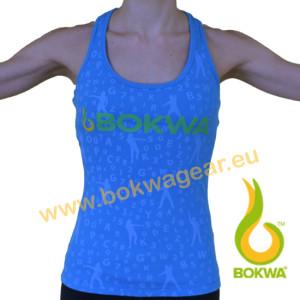 Bokwa® - Buyani Graphic Rib Tank II - Blau