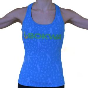 Bokwa® - Buyani Graphic Rib Tank II - Blue