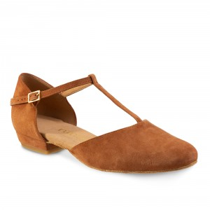 Rummos Femmes Chaussures de Danse Carol - Marron - 2 cm