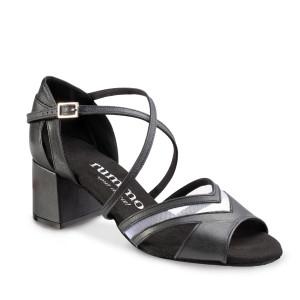 Rummos Femmes Chaussures de Danse Doris - Cuir Noir - 5 cm