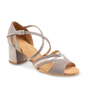 Rummos Mulheres Sapatos de Dança Doris - Nobuk Cinza - 5 cm