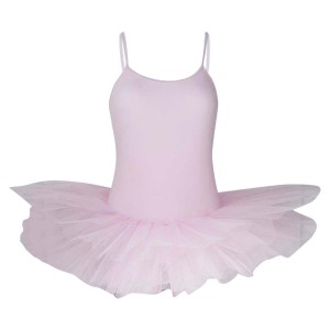 Intermezzo - Mädchen Ballett Body/Trikot mit Teller Tutu und Spaghetti-Trägern mit Tutu 3152 Loverstraptu