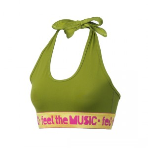 Zumba® - Feel It Halter Bra Top - Soldier | Final Sale