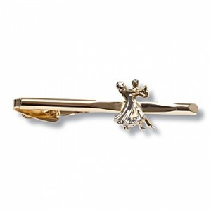 Diamant - Tie clip with dance couple [Gold]