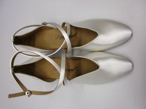 Diamant - Damen Tanzschuhe 107-013-092 - Satin Weiß - 4,2 cm Spanish [UK 5,5] *Mangel*