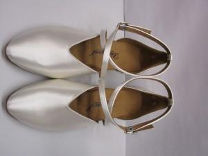 Diamant - Damen Tanzschuhe 107-013-092 - Satin Weiß - 4,2 cm Spanish [UK 5] *Mangel*